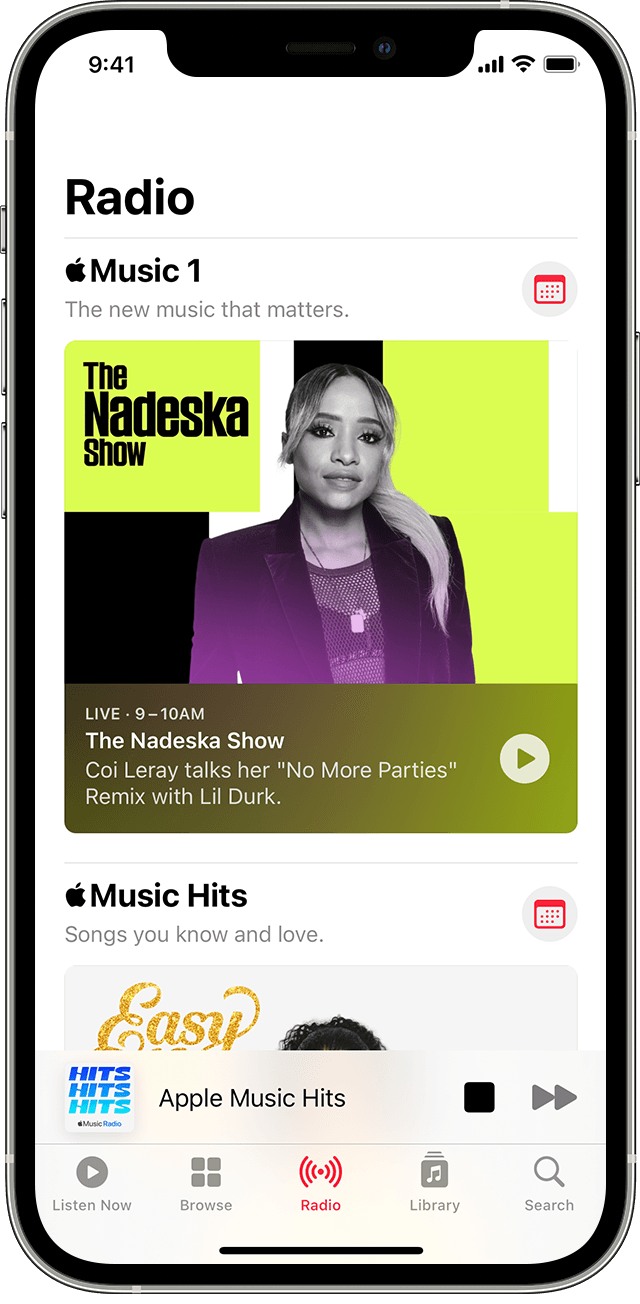 Listen to the radio in the Apple Music app