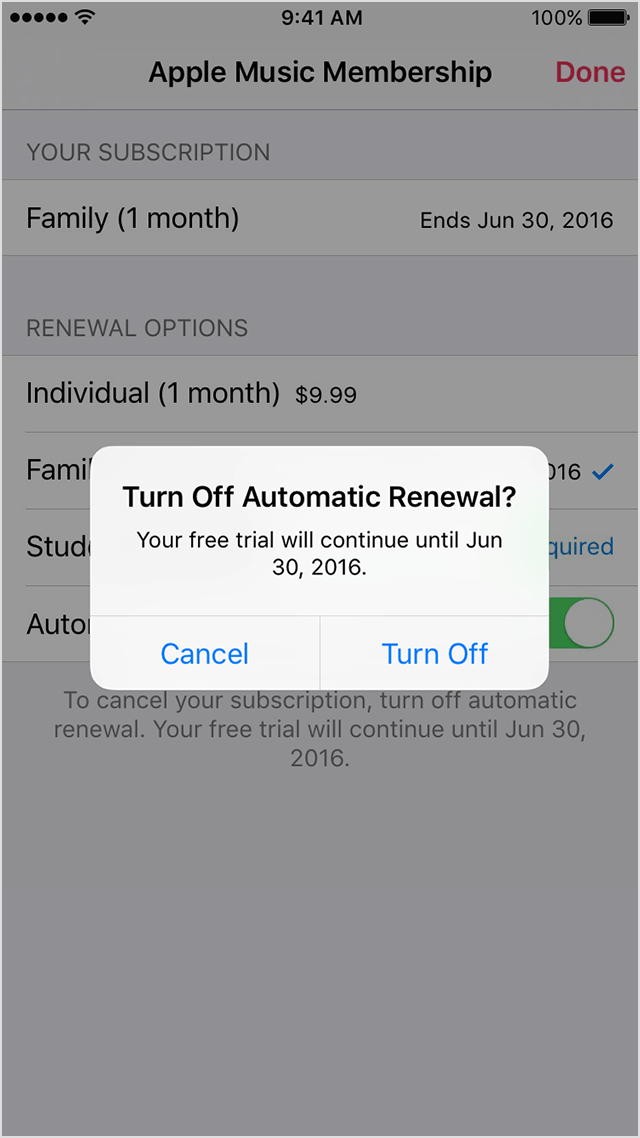 how to turn off automatic renewal on iphone manage your apple membership on your iphone 1961