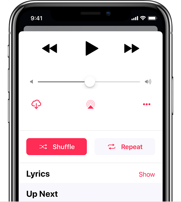 Play, repeat, and shuffle music - Apple Support