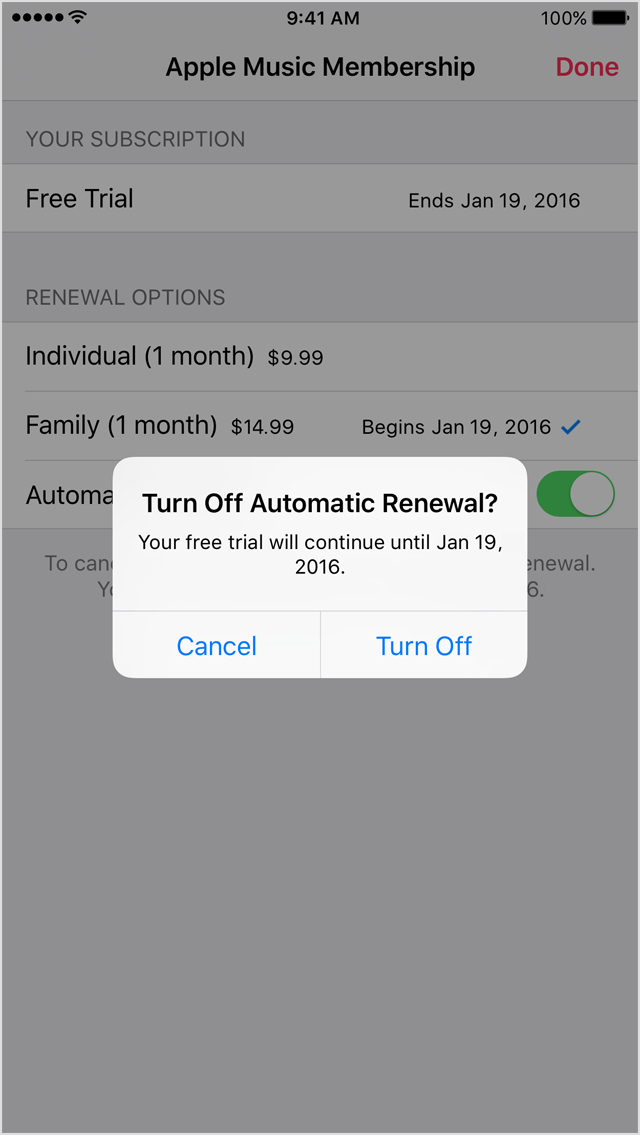 how to cancel auto renewal of spotify