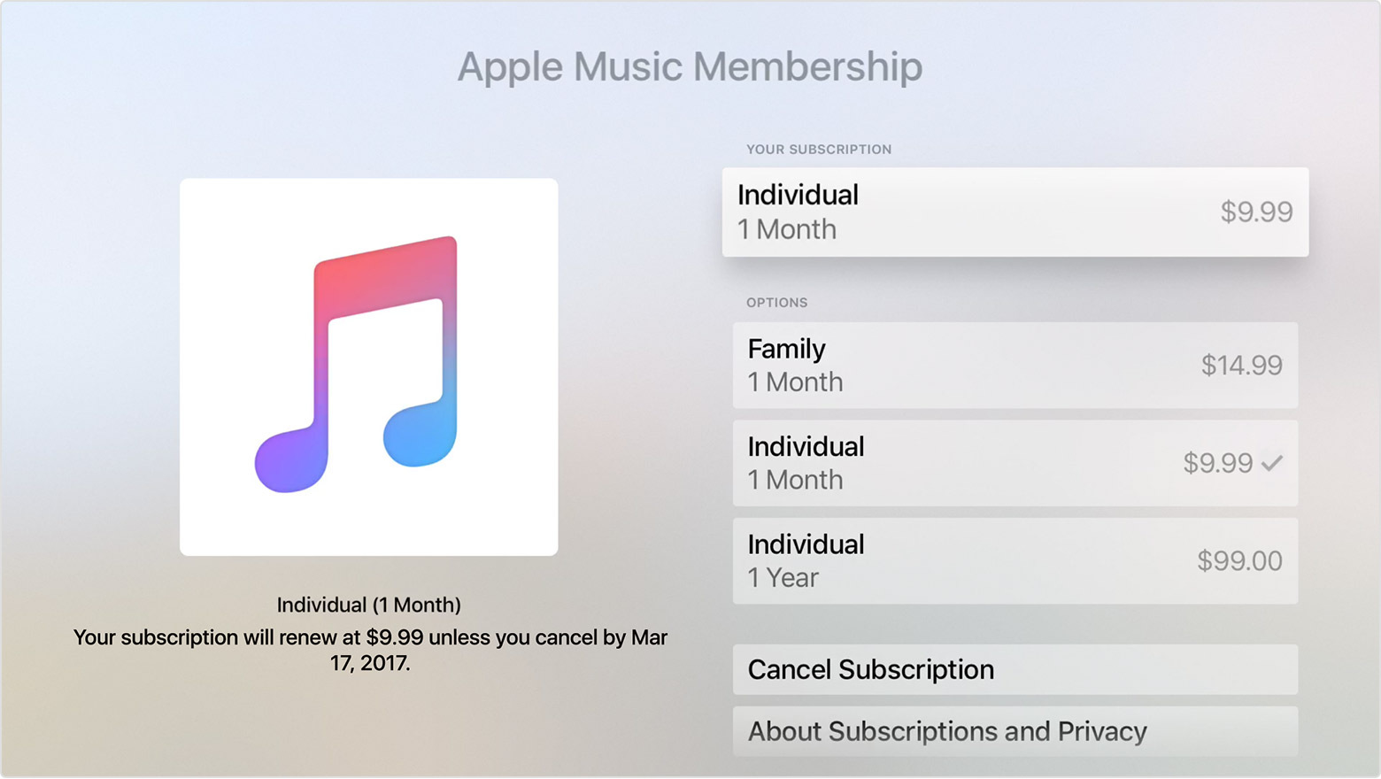 manage apple subscriptions