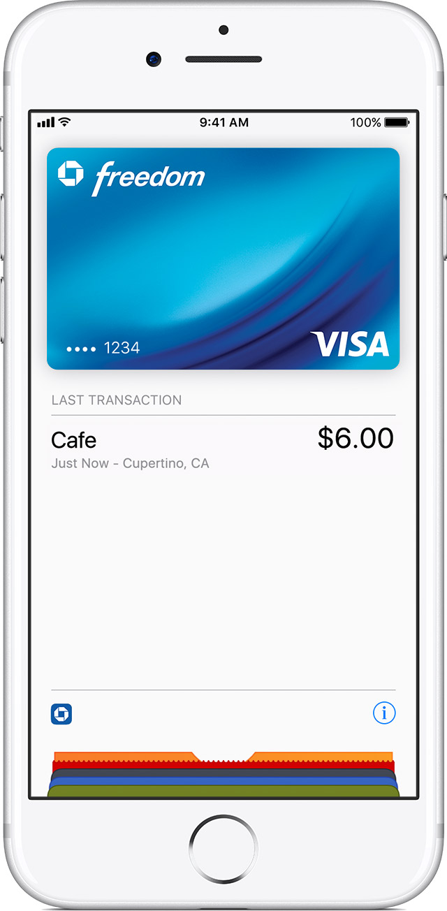 Transaction history on iPhone