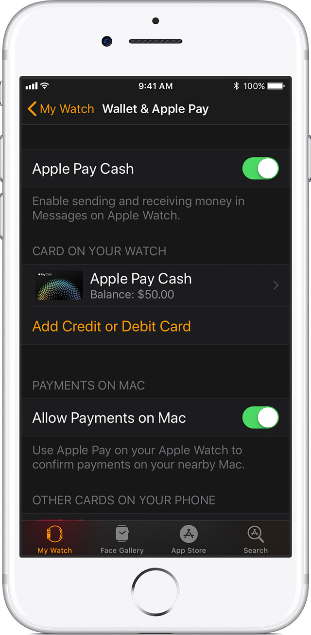 Set up apple pay apple support add a card on your apple watch reheart Choice Image