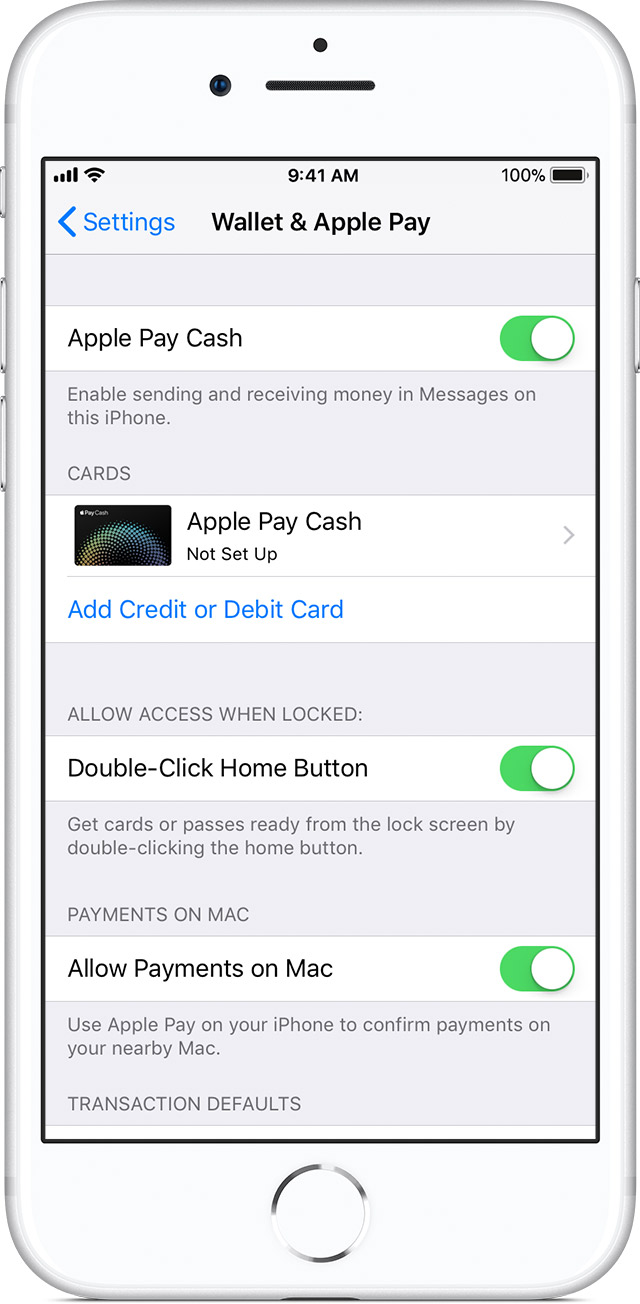 Set up Apple Pay Cash and person to person payments - Apple Support