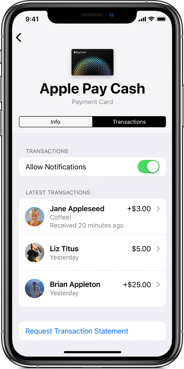Apple Pay Cash transactions