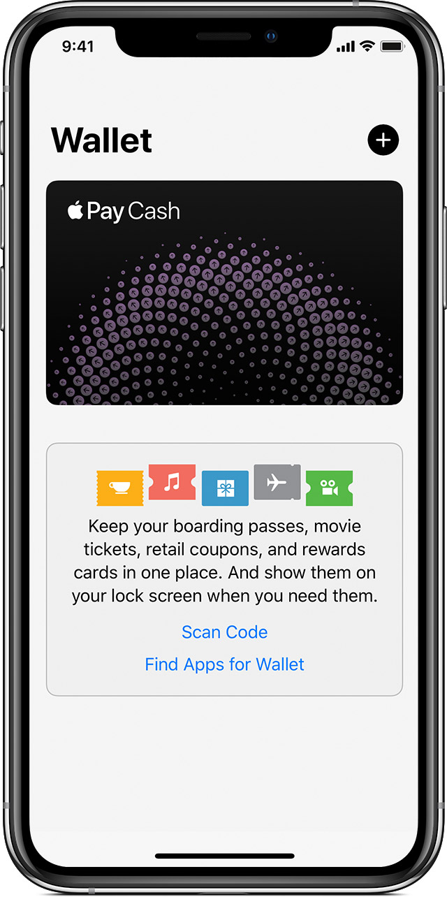 Wallet app on iPhone