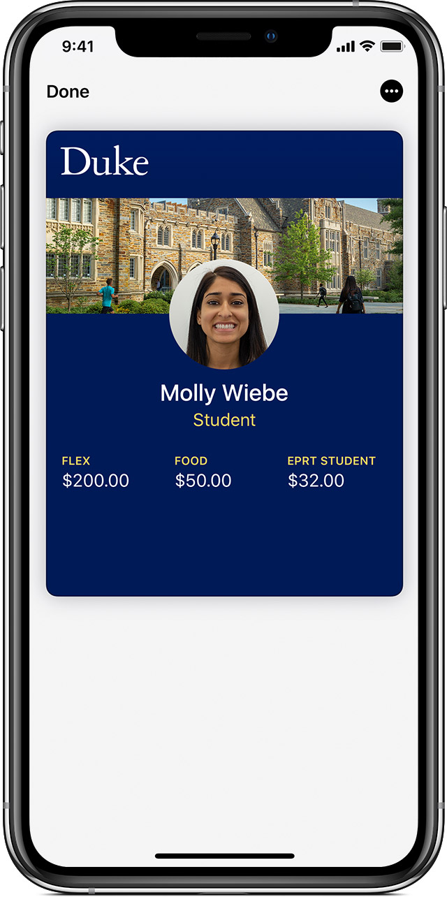 Use student ID cards in Wallet on your iPhone or Apple Watch