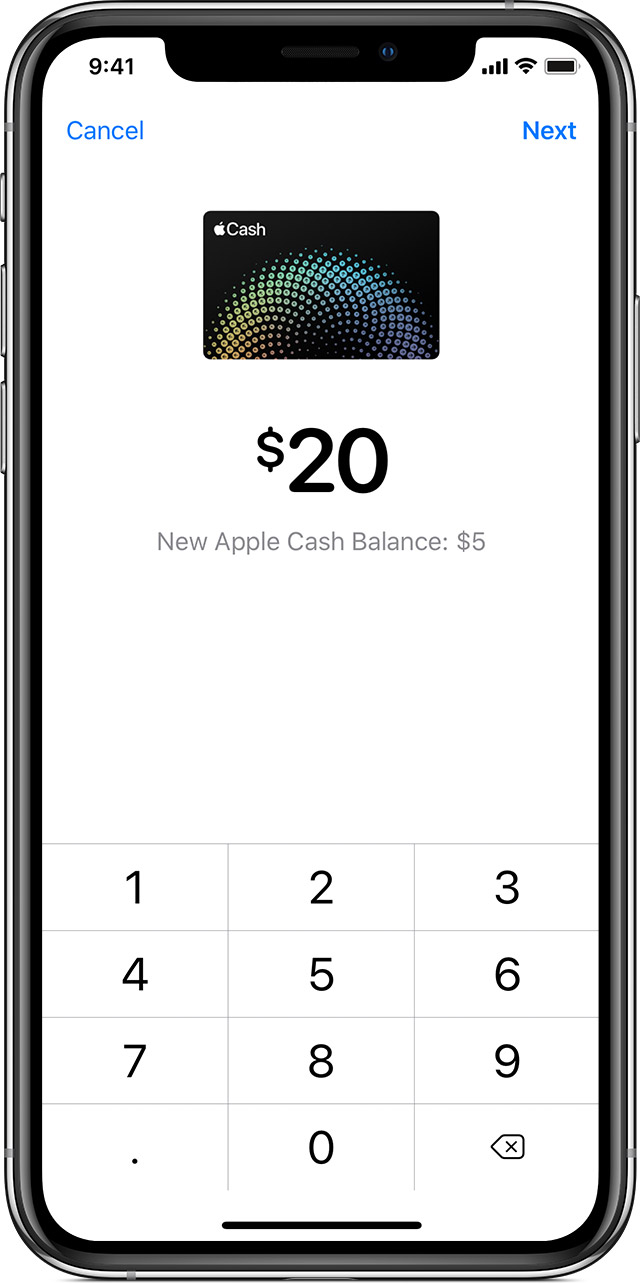 Transfer money from Apple Cash to your Visa debit card or bank