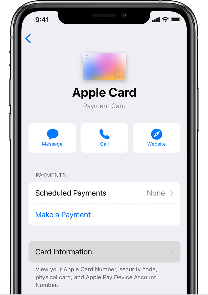 How to pay with your Apple Card number