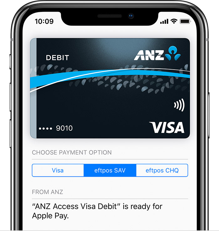 choose a payment network screen on iPhone