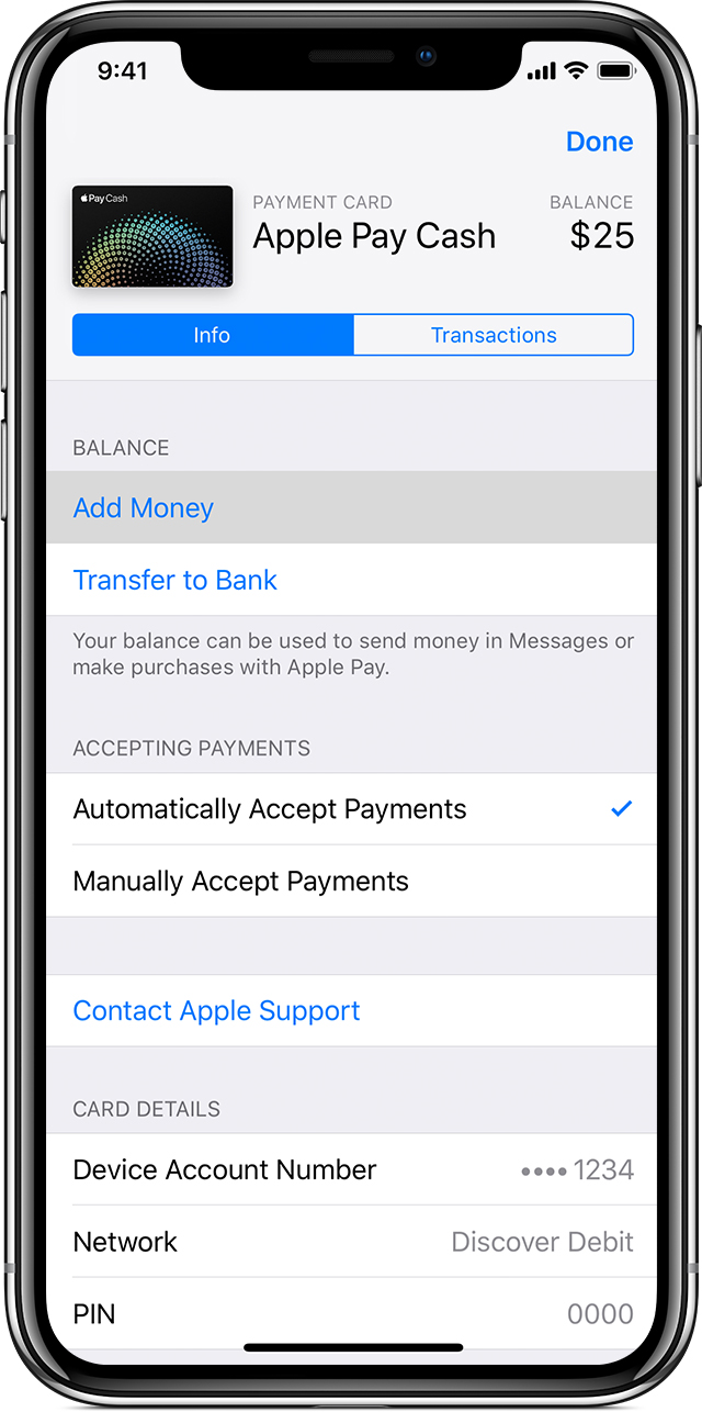 Adding Money to Apple Pay Cash