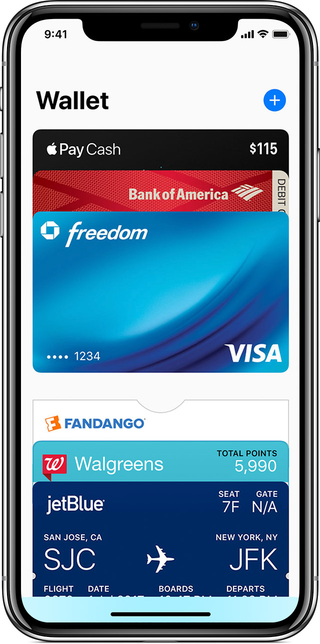 Cards in the Wallet app