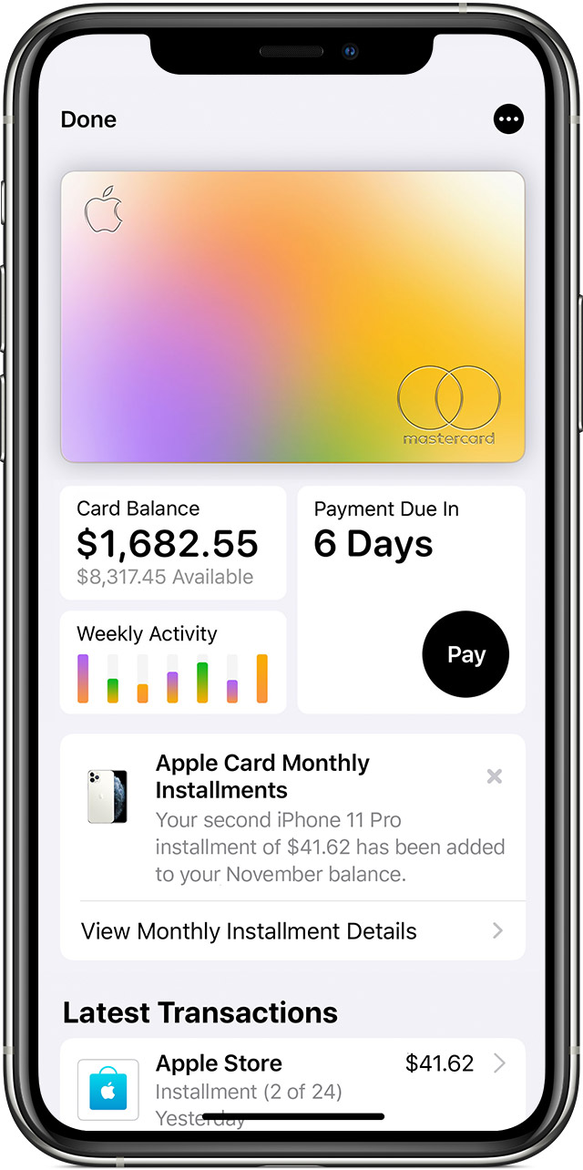 Image result for breakdown of apple card""