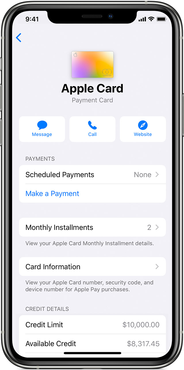 View your Apple Card Monthly Installments in the Wallet app