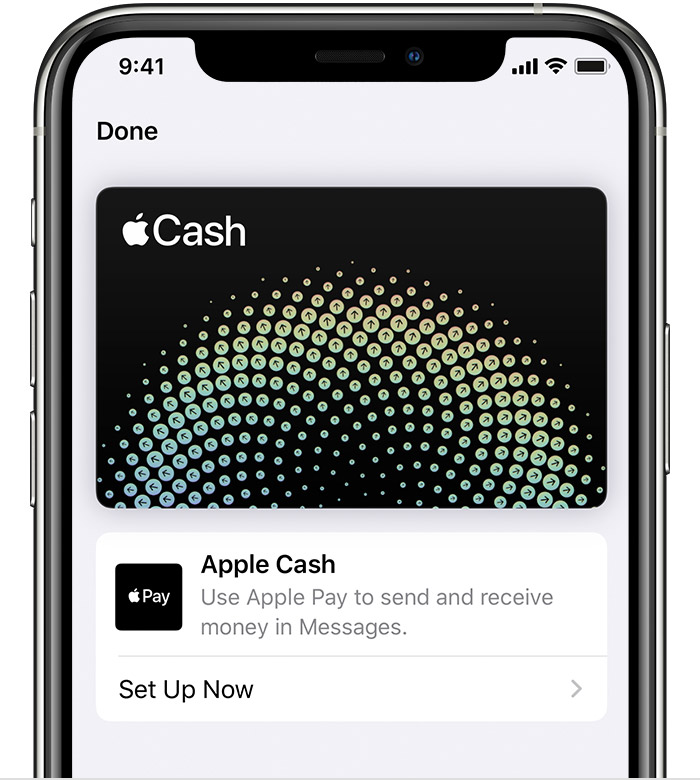 Apple Cash card in the Wallet app