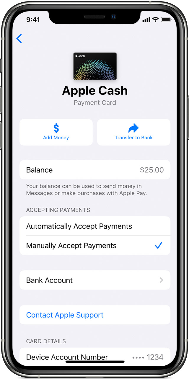 How to accept payments for Apple Cash