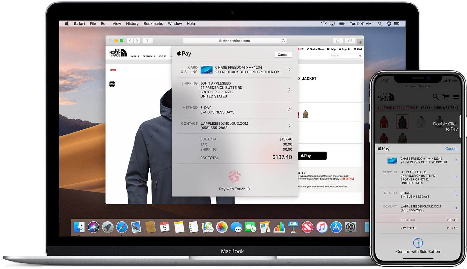 Use Apple Pay on the web