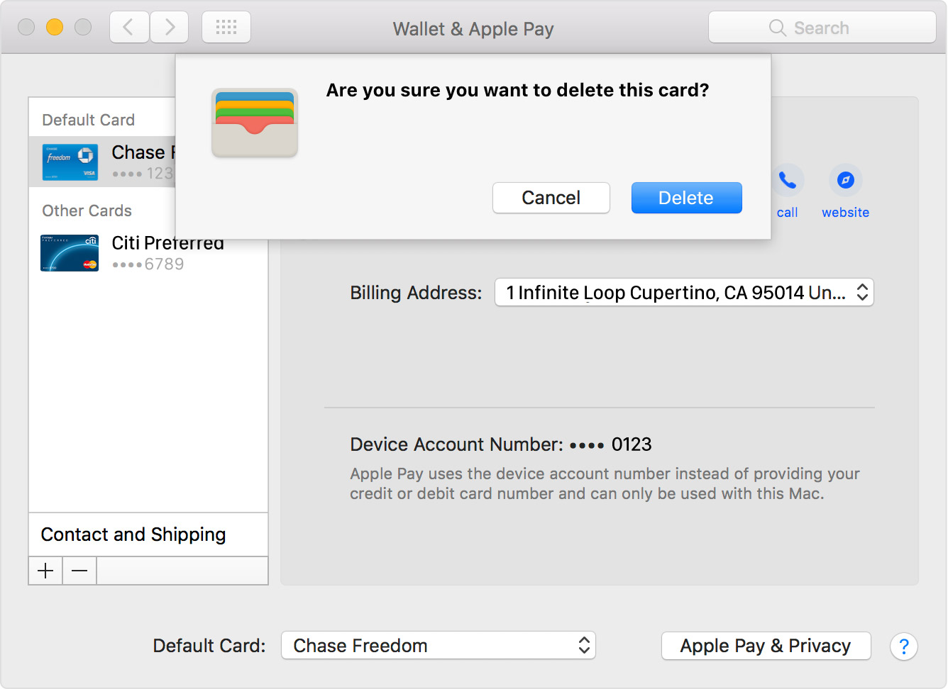 To Remove A Card That You Use On Your Mac, Go To System Preferences >  Wallet & Apple Pay, Click The Card That You Want To Remove, Then Click The  Minus