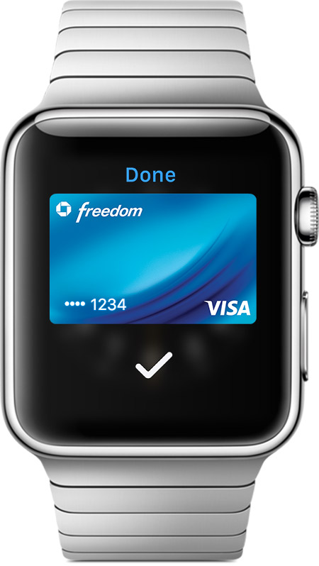 Pay with Apple Watch screen