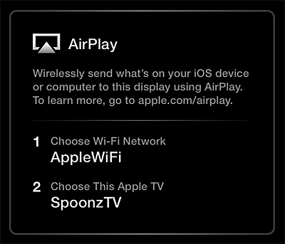 Apple tv Network Settings Choose an Network And Apple tv