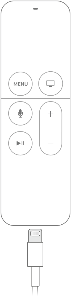 Charge the battery in your Siri Remote. Your Siri Remote doesn't feature a removable battery.