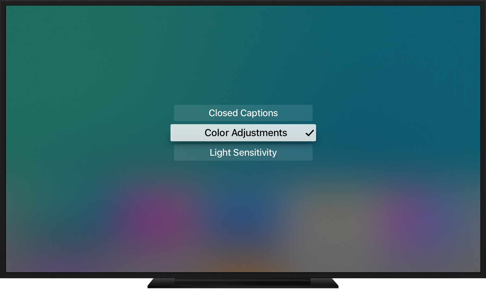Press Menu three times to find a list of your shortcuts on Apple TV (4th generation)