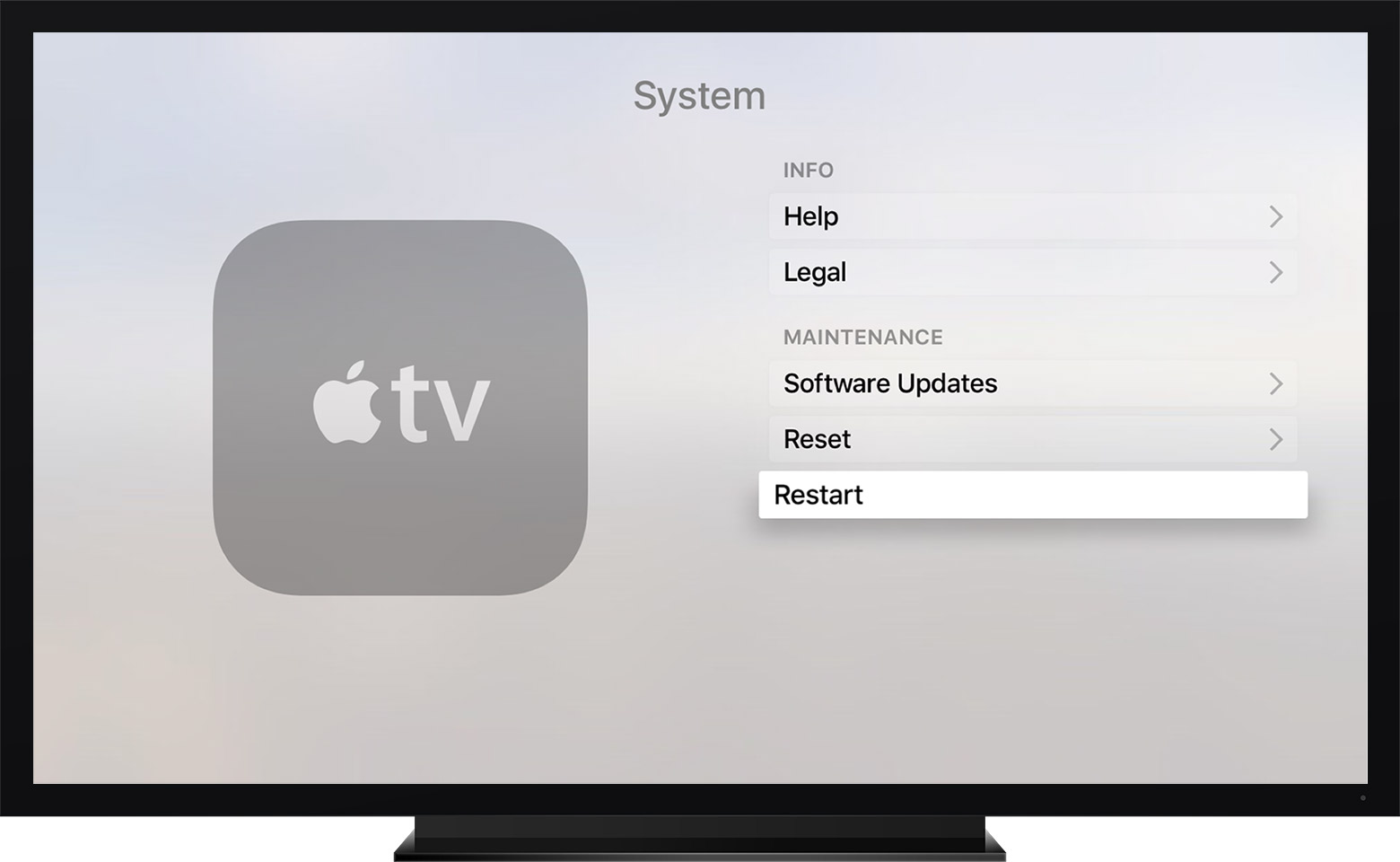 How to restart your apple tv apple support