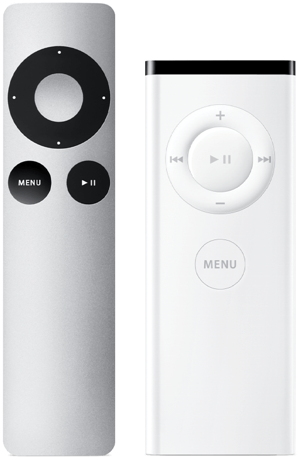 The Apple Remote (aluminum and white)