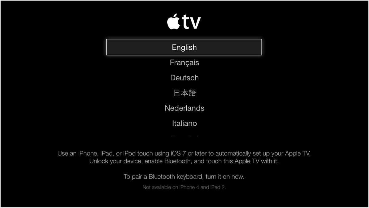 How do i connect my apple tv to my wireless network without remote
