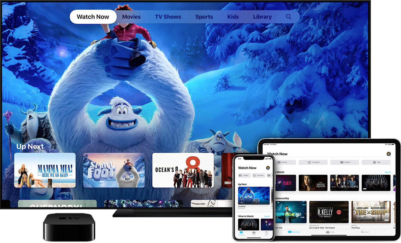 Watch movies, TV shows, and live content in the Apple TV app