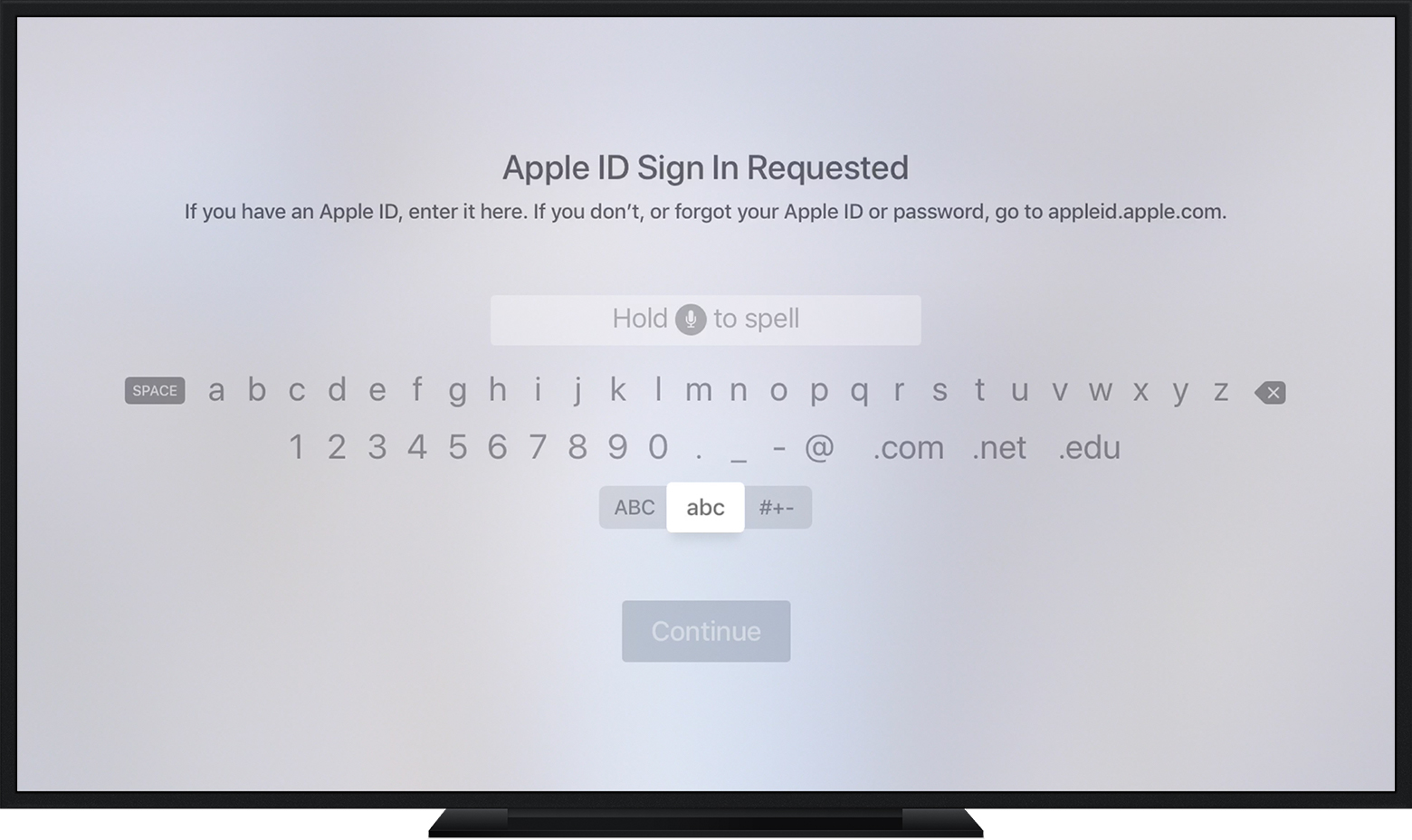 Enter text on your Apple TV - Apple Support