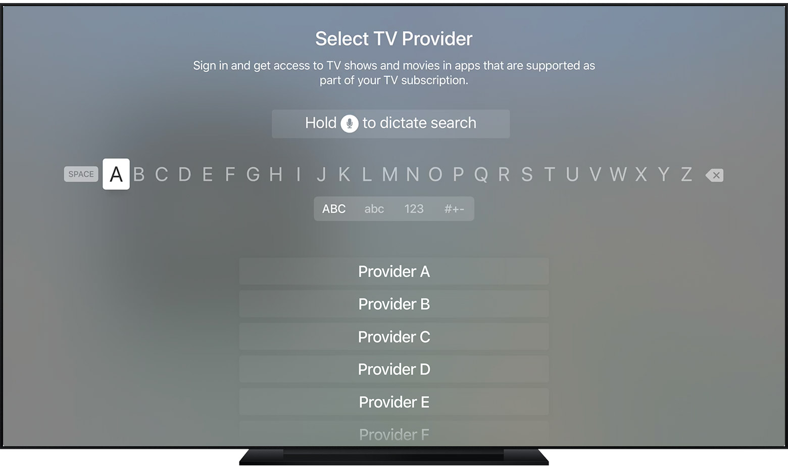 Use single sign-on with your iOS device or Apple TV - Apple