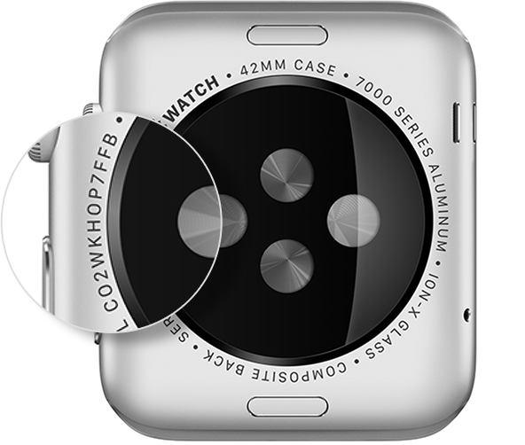 Parte posterior del Apple Watch