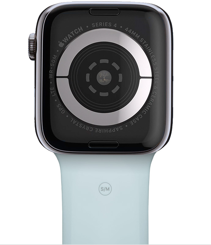 New blue band on Apple Watch.