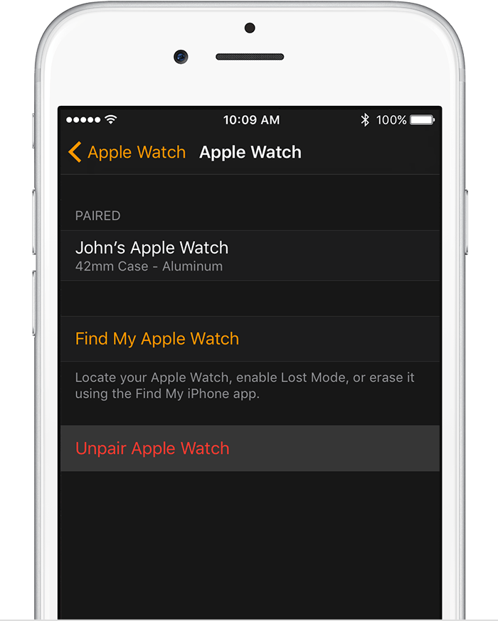 watch app on iPhone