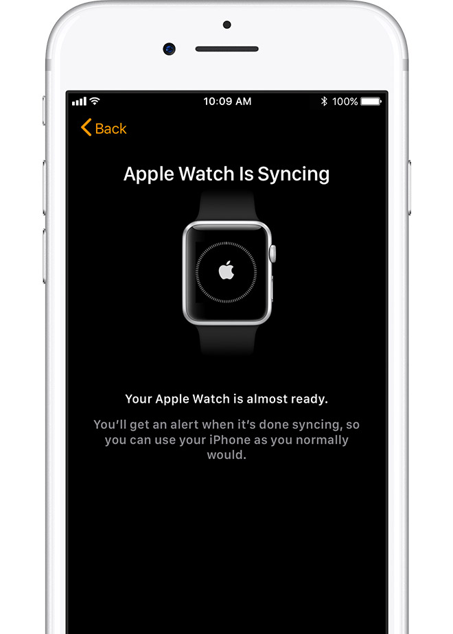 keep your devices close together until you hear a chime and feel a gentle tap from your apple watch then press the digital crown