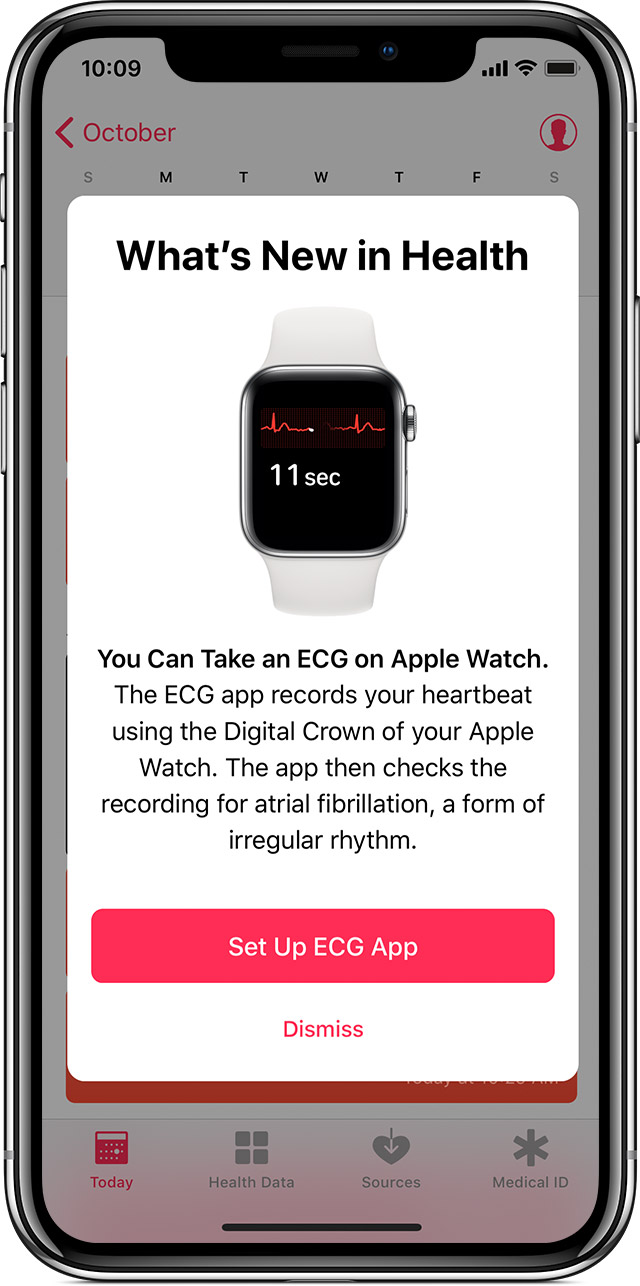 Taking an ECG with the ECG app on Apple Watch Series 4