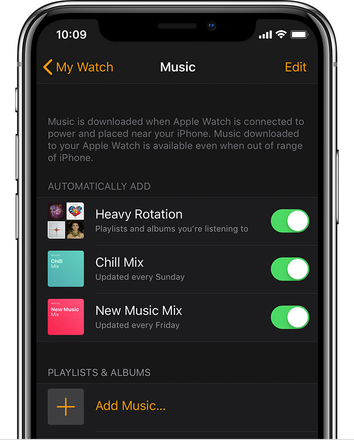 Listen to music and podcasts on your Apple Watch - Apple