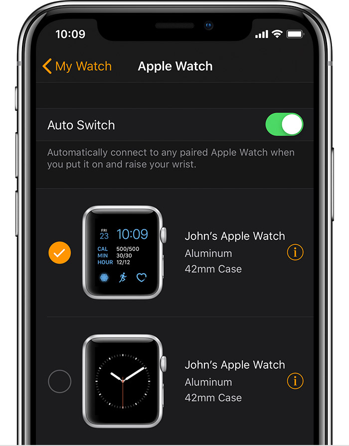 John's 42mm Aluminum Apple Watch in the Watch app.
