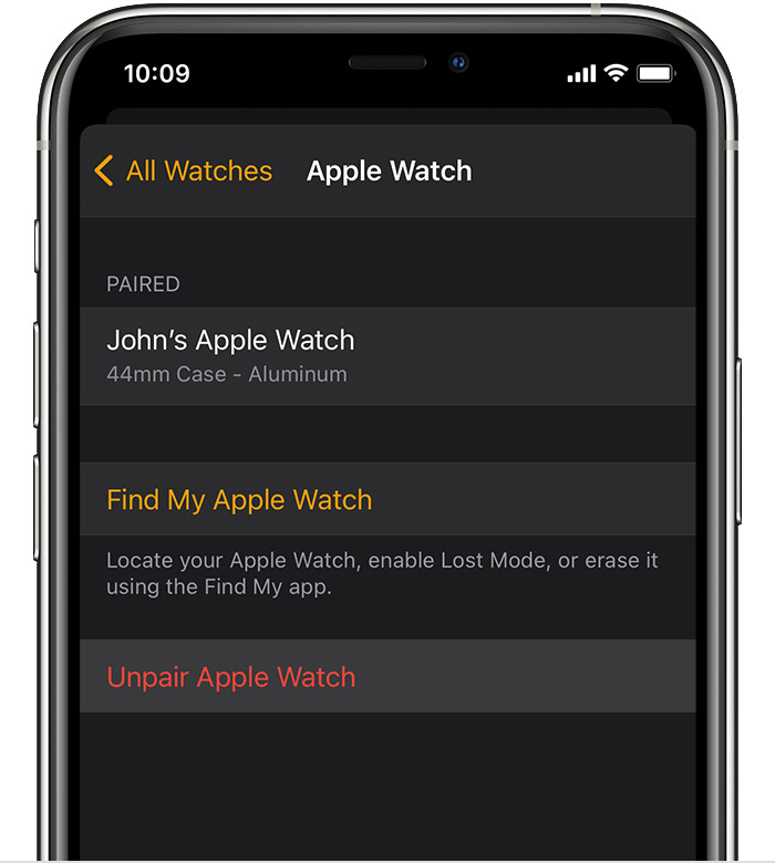 Unpair And Erase Your Apple Watch Apple Support