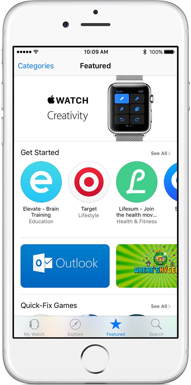 Find apps for Apple Watch on your iPhone in the Apple Watch app