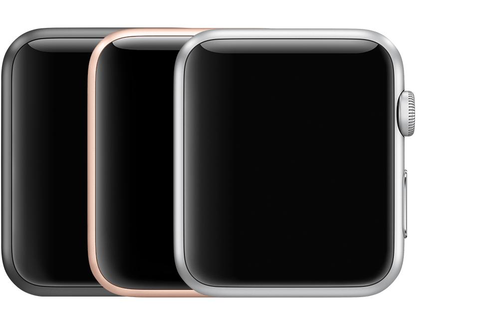 Apple Watch Series 3 (GPS). Boîtier de 38 mm (Modèle   A1858) Boîtier de 42  mm (Modèle   A1859) Boîtier en aluminium Gris sidéral, Or ou Argent 68b89a046cb1