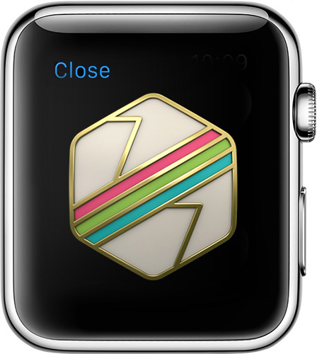You can earn badges in Activity for Apple Watch