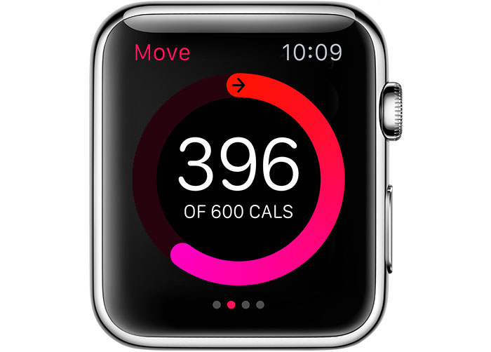 Swipe left or right in the Activity app on Apple Watch for more details
