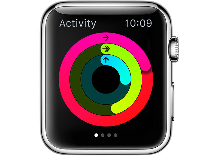 Activity on Apple Watch uses rings to show you how much you move, exercise, and stand