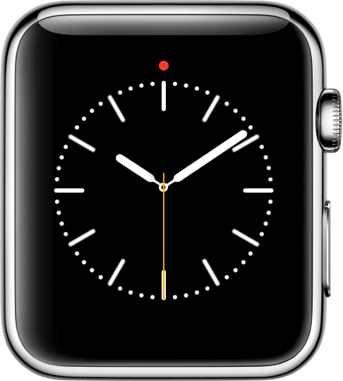 red dot on watch face