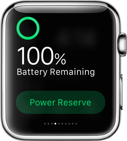 Apple Watch battery power Glance