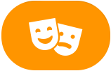 Theater masks icon