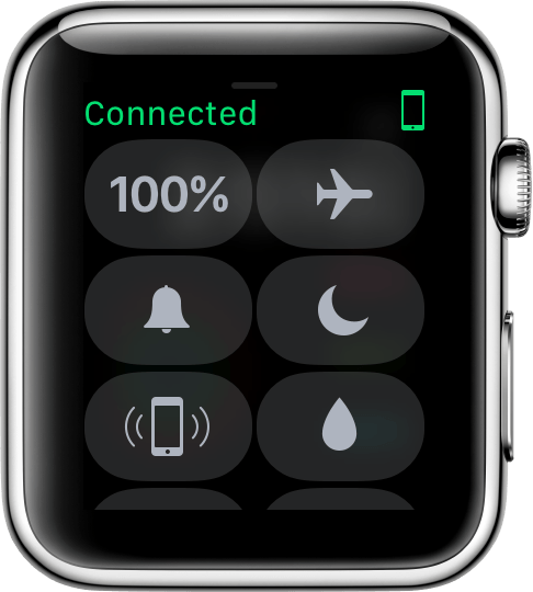 Connected icon on watch face