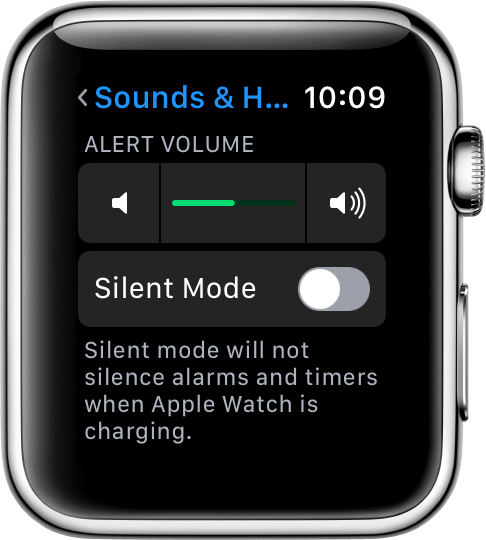 Alert Volume settings
